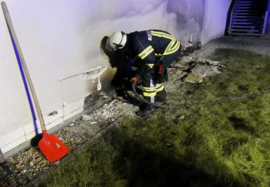 Brennende Fassade