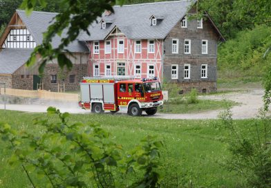 Feuerwehr übt im Freilichtmuseum