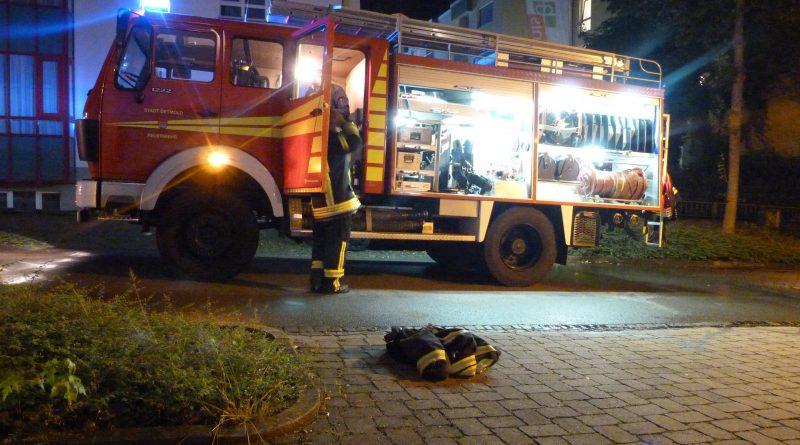 Feuer in Wohnheim