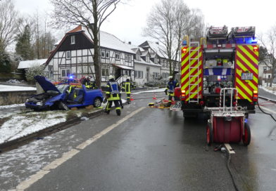 Verkehrsunfall mit zwei verletzten Personen