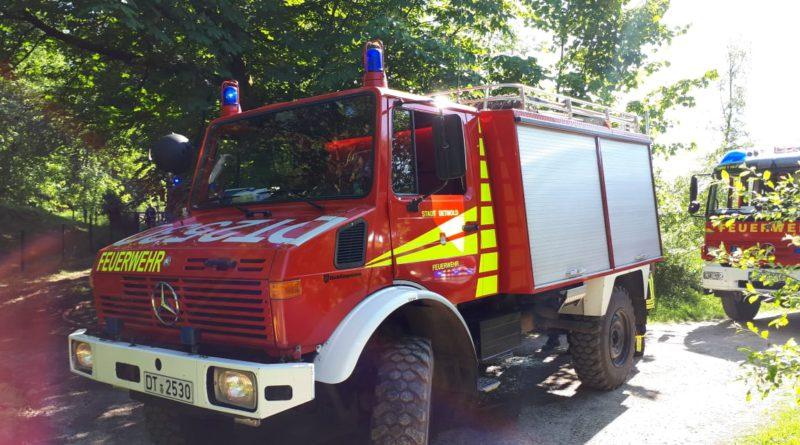 Unterstützung beim Waldbrand